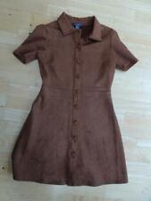PRIMARK ladies soft suede look vintage style button front dress UK 10 EXCELLENT