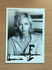 Autogrammkarte - VERONICA FERRES - SCHAUSPIELERIN - orig. signiert #453