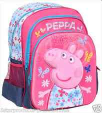 NEW PEPPA PIG 3D BACKPACK BAG PINK KIDS KID's GIRLS LUNCH BAGS 16 SCHOOL DAYPACK