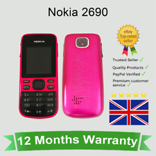 Unlocked Nokia 2690 Button Mobile Phone - Hot pink