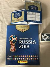 Lot de 389 Panini Russie coupe du monde 2018 Stickers Job Lot & album AUCUNE DOUBLE!