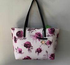 NWT SOLD OUT Kate Spade Pink And Plum HAWTHORNE LANE ROSES RYAN Tote Bag $198