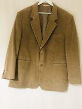 """Men's Corduroy Jacket Suit 46"""" Chest Vintage Light Tan Camel Chums Smart"""