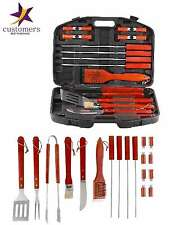 BBQ Set 18 Piece Stainless Steel BBQ Grill Outdoor Cooking Utensils Tools New