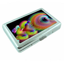 Groovy Rainbow Em4 Silver Metal Cigarette Case RFID Protection Wallet