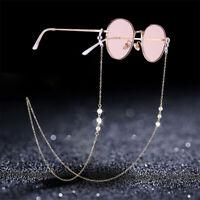 Women 70CM Sunglasses Lanyard Strap Necklace Eyeglass Luxury Pearl Chain Cord