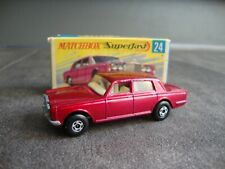 VINTAGE MATCHBOX SUPERFAST 24 ROLLS ROYCE SILVER SHADOW WITH BOX