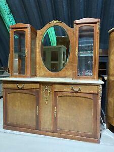 Vintage French  Ormolu Marble Top Dresser Washstand Potential Sink Vanity Unit