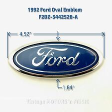 "1992-1995 Ford Taurus Rear Trunk 4.5"" Blue Oval Emblem Nameplate F2DZ-5442528-A"