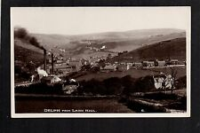 Delph from Lark Hill near Oldham -  real photographic postcard