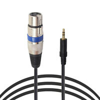 3Pin XLR Female Jack to 3.5mm Male 1/8 TRS Stereo Microphone Mic Audio Cable