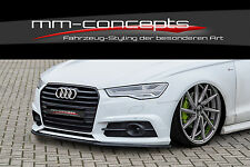 Cup Spoilerlippe Audi S6 + A6 4G C7 S-Line ab Bj. 14 Front Schwert Splitter IN