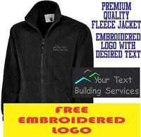 Personalised Embroidered Fleece Jacket BUILDING Workwear UNIFORM LOGO
