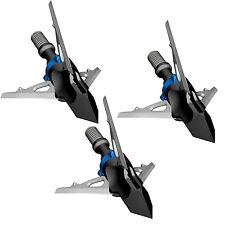 """G5 Broadhead Deadmeat 3 Blade Expandable 3pk 125 Grain 1.5"""" Cut #00601"""
