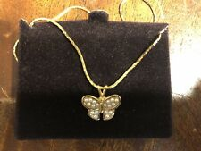 Mia Butterfly Pearl Stud Vintage new Necklace Insect Charm Gift Box
