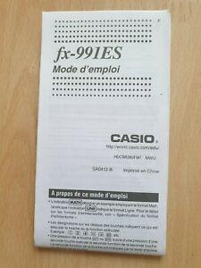 Gebrauchsanleitung / Mode d'emploi CASIO fx-991ES - Taschenrechner  Calculatrice