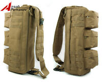 Outdoor Tactical Molle Shoulder Sling Bag Military Hunting Assault Backpack Tan
