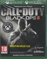 Call of Duty Black Ops 2 II Xbox One and 360 Zombies Brand New Factory Sealed