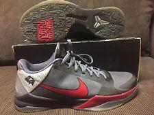 2010 Nike KOBE BYRANT 5 BLACK/DARK GREY/MAROON Sz 12 US ID RARE