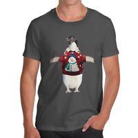 Funny T Shirts For Men Penguin Christmas Jumper Men's T-Shirt