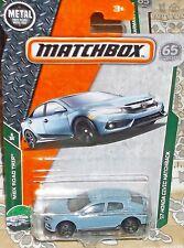 2018 Matchbox MBX Road Trip 6-35 Lt. Blue '17 Honda Civic Hatchback Diecast 4+ T