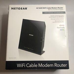 NETGEAR AC1600 Wifi Cable Modem Router, Model C6250, 802.11ac Dual Band Gigabit