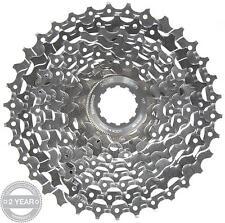Shimano Deore XT CS-M770 Cassette Sprocket Silver 9 Speed Gear 11-34T Tooth Bike