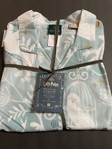 LARGE COTTON Pottery Barn TEEN HARRY POTTER Patronus Damask Mint Pajama Gift NEW