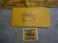 Fiat  600 Allemano  -1  SCRITTA  FIAT  in  metallo cromato  mm 60x18