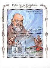 Vaticano 1999 Bf 20 Padre Pio Mnh