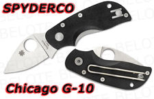Spyderco Chicago G-10 Folder Plain Edge C130GP **NEW**