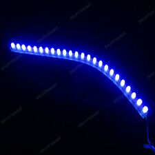 10 × Blue 24cm 24LED PVC Flexible LED Strip Light Waterproof for Car Motorcycle