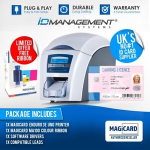 Magicard Enduro 3E Uno Single-Sided ID Card Printer • Free Colour Ribbon