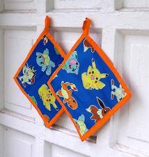 Pokemon Pot Holder Cook Baker Gift Pikachu Meowth Squirtle geek gamer Go