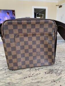 Authentic Louis Vuitton Damier Shoulder Messenger Bag Crossbody Olav PM Brown LV