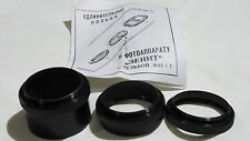 3 Extension Tubes Step-up rings for Macro M42 Zenit mount camera Close-Up 2210a