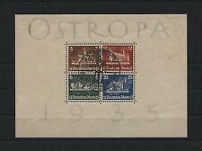 DR OSTROPA 1935 Block 3 gestempelt (Originalgummi)  sh. Scan