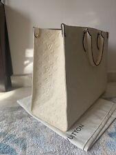 Louis Vuitton Onthego GM Empreinte Cream / Beige