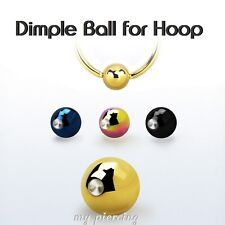 5pcs 3mm 4mm 5mm Anodized Steel Double Dimple Ball for Captive Bead Ring Hoop