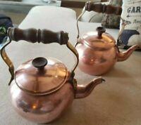 Pair Of Copper Tea Pots - Portugal Tagus R50