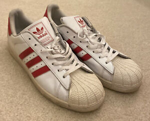 Adidas Superstar Shell Toes Sneakers Men's Size 12 Red Stripes
