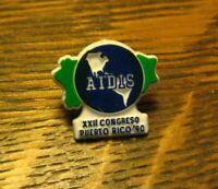 AIDIS XXII Congresso 1990 Lapel Pin - Vintage Puerto Rico Congress Lapel Badge