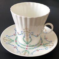 Vintage Imperial Lomonosov Porcelain Bone China Cup & Saucer Russian LFZ