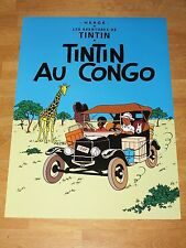 Tintin poster Gross-tin tin au Congo/tintin au congo - 70 x 50 cm tintin & milou