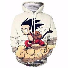 Dragon Ball Z Kid Goku Nimbus White Hooded Sweatshirts Size XS