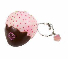 Puni Maru Mini Cheeki Pineberry Strawberry Squishy Pineberry Dipped Chocolate