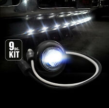 Ford Dodge GMC Universal Truck Front Air Dam 9pc Light Kit with White LED Bulbs