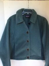 Patagonia Women's  Synchilla Fleece Teal Button Up Jacket Size M