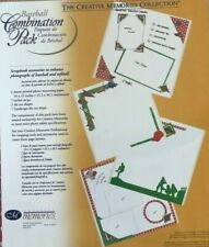 Creative Memories BASEBALL COMBINATION PACK - DIE CUTS, STICKERS & PAPER