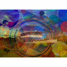 """ACEO Card Signed Print (2.5"""" x 3.5"""") Frank Lloyd Wright's David Wright House"""